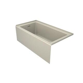 "Jacuzzi LNS6032BLXXXX Linea 60"" Acrylic Soaking Bathtub for Alcove Installation with Left Hand Drain"