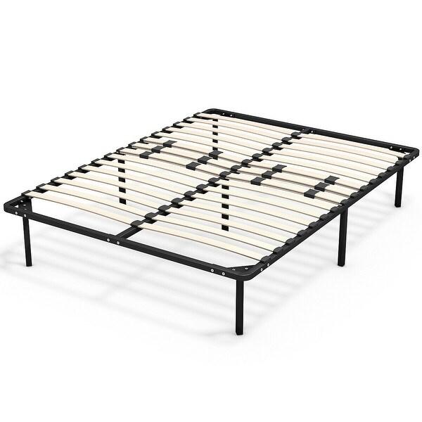 Shop Wood Slats Metal Bed Frame Platform Mattress