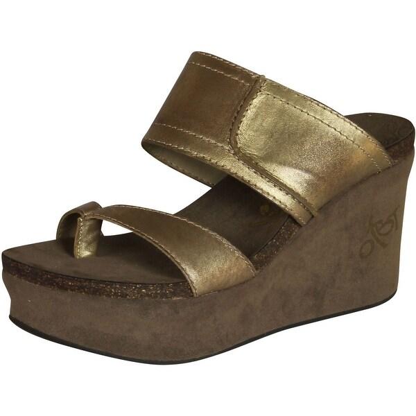 Otbt Womens Brookfield Fashion Wedge Sandals - Gold