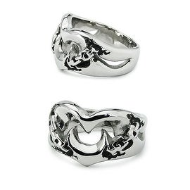 Stainless Steel Fangs Ring 15mm