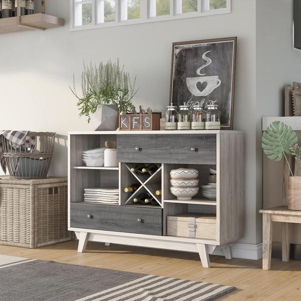 Furniture of America Darsan Mid-Century Modern 2-drawer Buffet. Opens flyout.