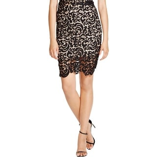 Lucy Paris Womens Pencil Skirt Lined Lace
