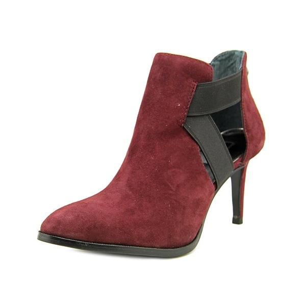 Alfani Ronja Women Pointed Toe Leather Burgundy Bootie