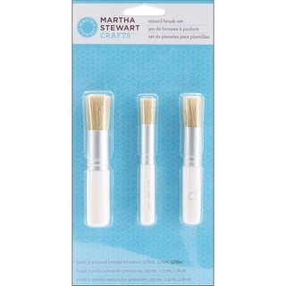 Martha Stewart Stencil Brush Set 3/Pkg-