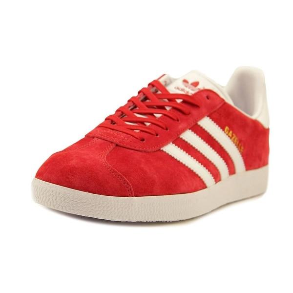 Adidas Gazelle Men Round Toe Suede Red Running Shoe