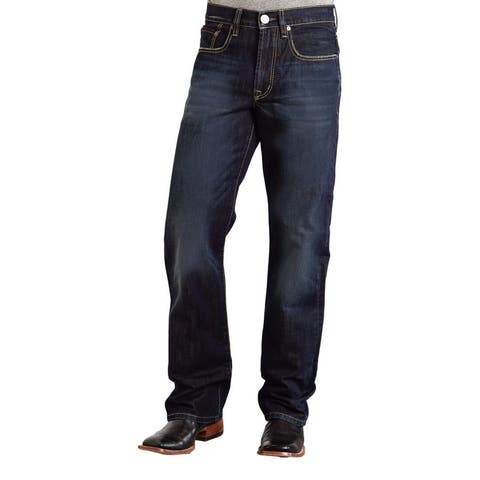 Stetson Western Denim Jeans Mens Relaxed Dark Wash