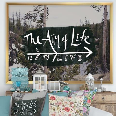 Designart 'The Aim of Life' Cottage Premium Framed Art Print
