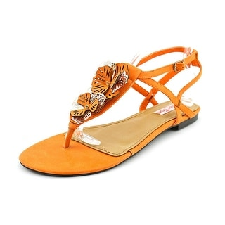 2 Lips Too Too Neroli Women Open Toe Leather Orange Sandals