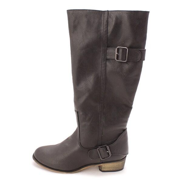 Just Fab Womens TACOMA Closed Toe Mid-Calf Fashion Boots - 6.5