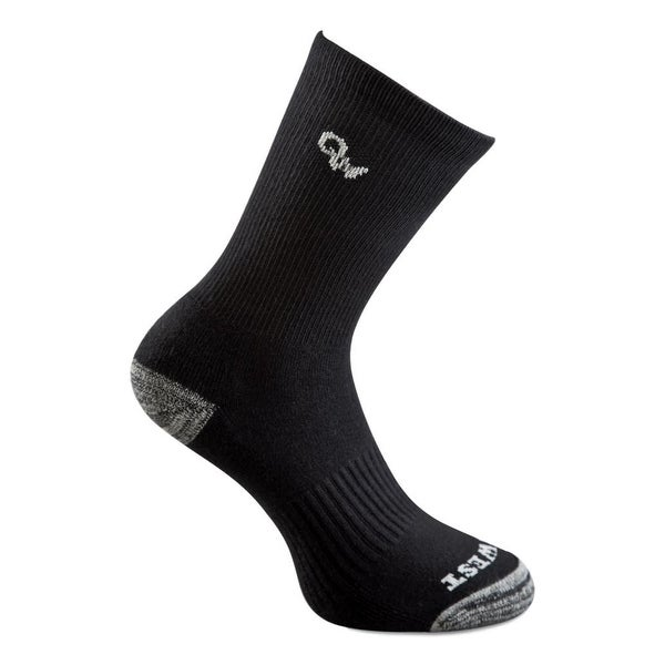 Old West Socks Kids 3 Pair Crew Reinforced Black Gray