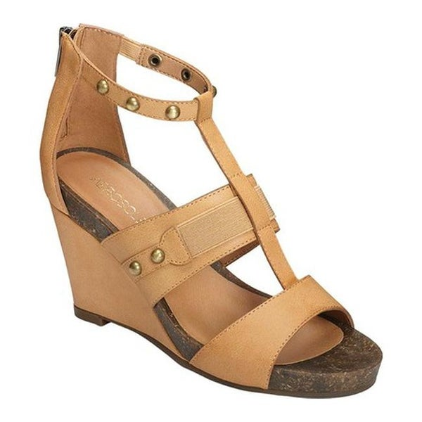 cc6917eaff4 Shop Aerosoles Women s Watermark Wedge Sandal Light Tan Faux Leather ...
