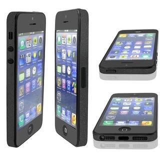 Unique Bargains Black Front Back Side Edge Wrap Button Decal Skin Sticker Set for iPhone 4 4G