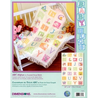 """Baby Hugs ABC Afghan Counted Cross Stitch Kit-29""""X45"""" 18 Cou"""