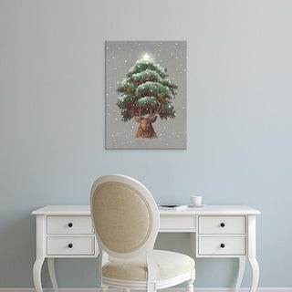 Easy Art Prints Terry Fan's 'Reindeer Tree' Premium Canvas Art