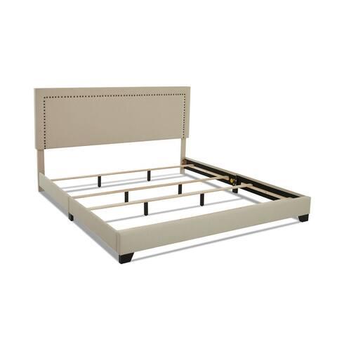 Cooper Upholstered Nailhead Platform Bed