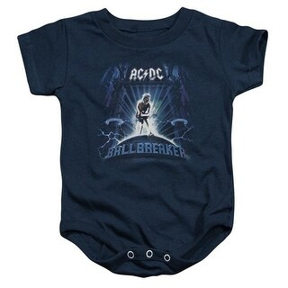 ACDC Ballbreaker-Infant Snapsuit, Navy - Medium 12 Mos
