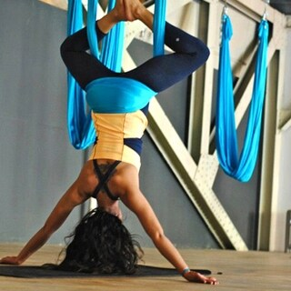 Yoga Swing Trapeze Aerial Flying Hammock Swing Sling Inversion Gym Strap & Hooks