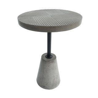 Link to Modern Style Round Concrete End Table with Tapered Base, Gray Similar Items in Living Room Furniture