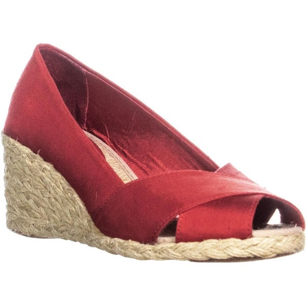 53344106dc8 Shop Lauren Ralph Lauren Cecilia Peep Toe Espadrille Wedge Pumps ...