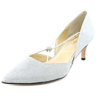 J. Renee Veeva N/S Pointed Toe Canvas Heels