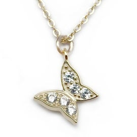 Julieta Jewelry Butterfly CZ Charm Necklace