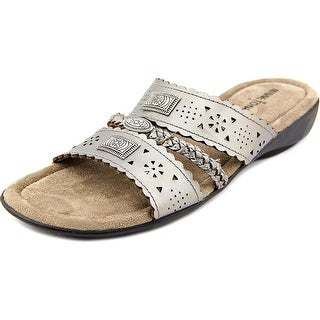 Minnetonka Gayle Women N/S Open Toe Synthetic Bronze Slides Sandal