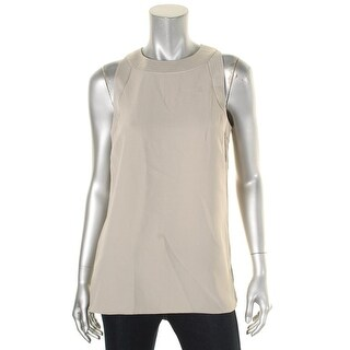 Lauren Ralph Lauren Womens Brista Casual Top Sleeveless Stitched Collar