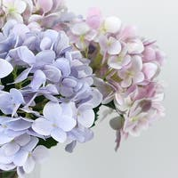 """G Home Collection Luxury Real Touch Hydrangea Stem in Light Purple and Light Pink 24"""" Tall"""