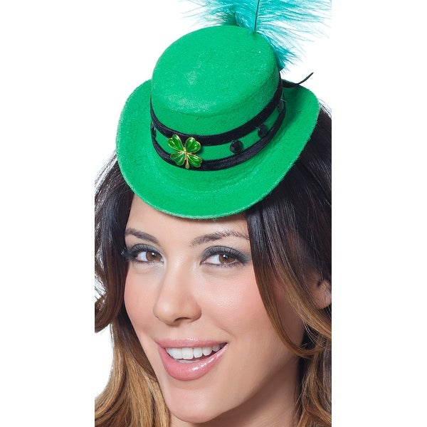 1006faa995 St Patricks Day Mini Hat, St Pattys Day Hat - Green - One Size Fits Most