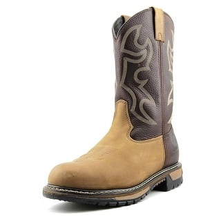 Rocky 6732 Branson Roper ST Men W Round Toe Leather Brown Work Boot