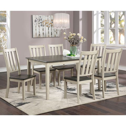 Furniture of America Hochter Rustic Antique White 7-piece Dining Set