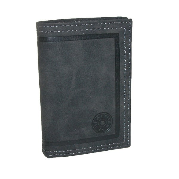 Realtree Men's Leather Trifold Wallet with Embossed Shotshell Logo - One size