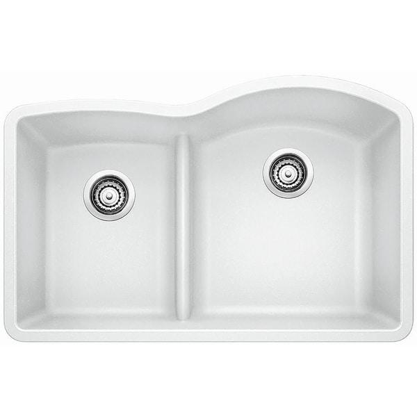 "Blanco 441603 Diamond 32"" Undermount Double Basin Composite Kitchen Sink"