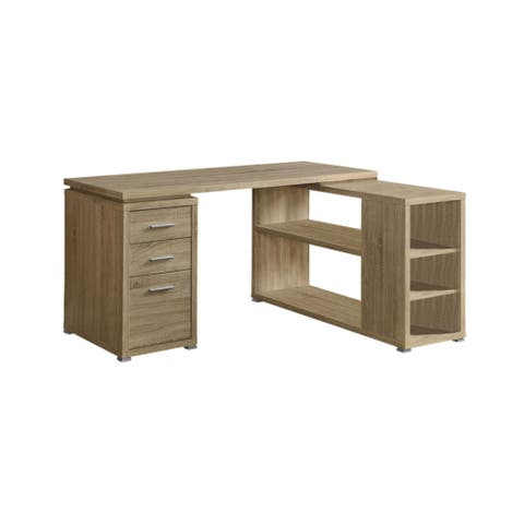 Offex Natural Reclaimed-Look Left or Right Facing Corner Desk