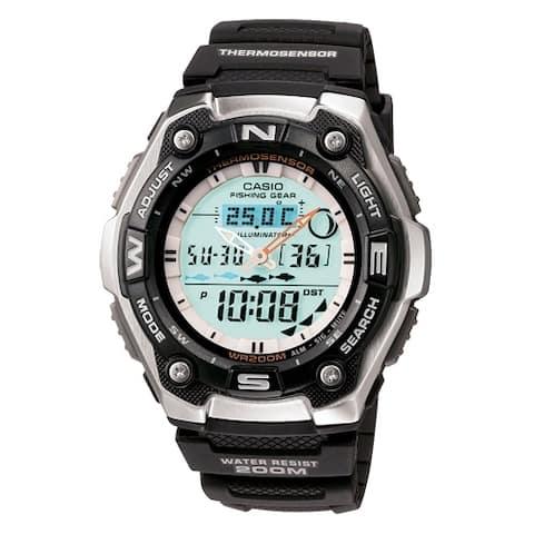 Casio aqw101-1av fishing timer ana digital