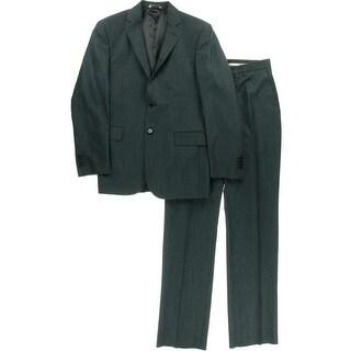 Yves Saint Laurent Mens Textured Flat Front Two-Button Suit - 38R