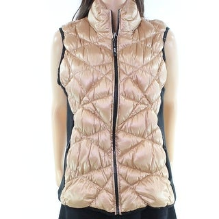 Marc New York Performance NEW Gold Black Women's XL Quilted Vest