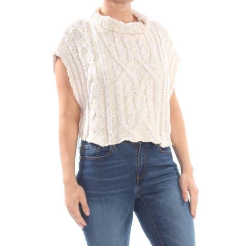 FREE PEOPLE Womens Ivory Sleeveless Vest Sweater Size XS