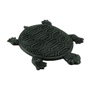 Cast Iron Turtle Garden Stepping Stone Step Tile - 0.75 X 12.75 X 9.75 inches