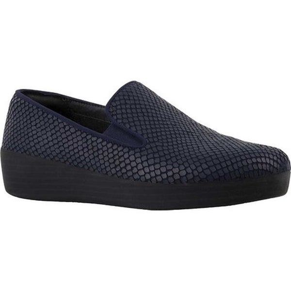 3dc777fee570 Shop FitFlop Women s Superskate Loafer Midnight Navy Goat Leather ...
