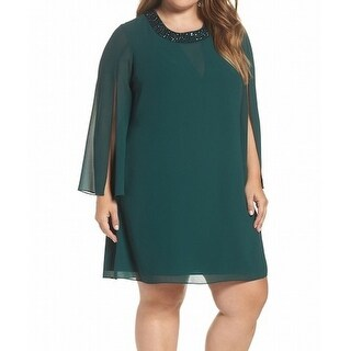 Vince Camuto NEW Green Womens Size 18W Plus Embellished Shift Dress