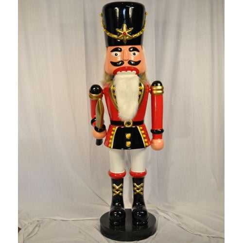 Christmas at Winterland WL-NUT-08-SWORD 8 Foot Tall Life Size Nutcracker with Sword Indoor / Outdoor