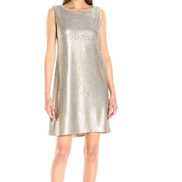 0cf54c90 Betsey Johnson NEW Gold Sequined Women's Size 8 Sparkle Sheath Dress