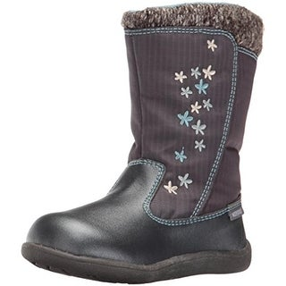 See Kai Run Girls Hallie Winter Boots Waterproof Embroidered