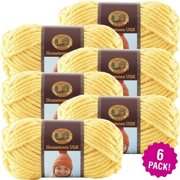 Lion Brand Hometown Usa Yarn 6/Pk-Pittsburgh Yellow