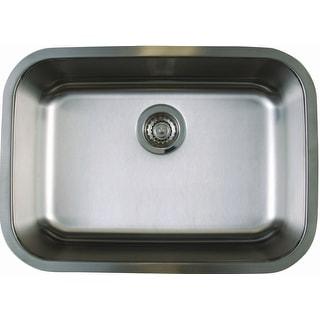 "Blanco 441025  Stellar Medium Single Bowl Stainless Steel Undermount Kitchen Sink 25"" x 18"" - Refined Brushed"