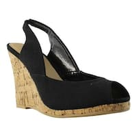 Diba Girl Womens Black Open Toe Heels Size 7.5