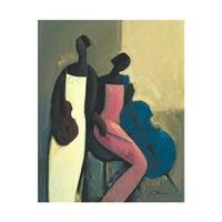 ''Symphonic Strings'' by Joseph Holston African American Art Print (14 x 11 in.)