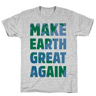 Make Earth Great Again Athletic Gray Men's Cotton Tee by LookHUMAN