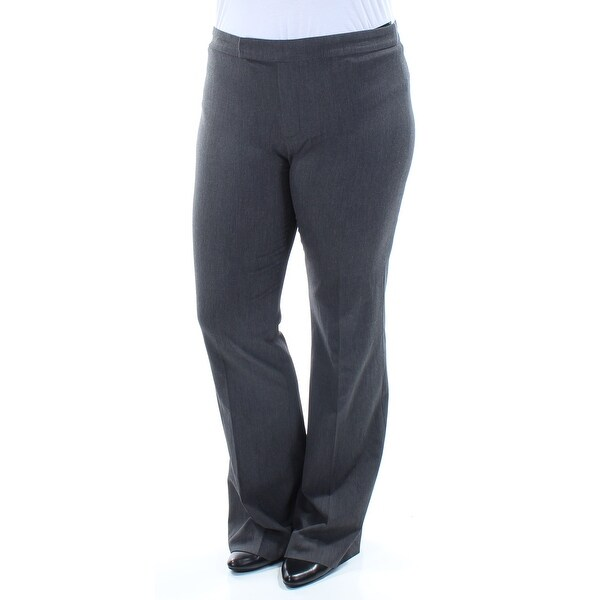 RALPH LAUREN Womens Gray Wear To Work Pants Size: 12